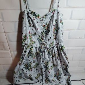 Hell Bunny size XL sleeveless dress skull/flowers